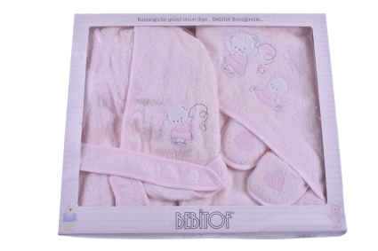 Детски Комплект за баня с халат момиче
