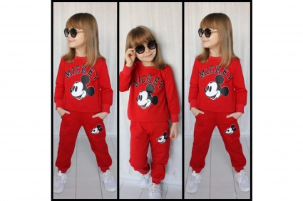 Детски Комплект дълъг ръкав момиче - Mickey Mouse