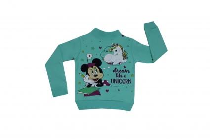 Детска Блуза момиче дълъг ръкав вата - Mickey Mouse