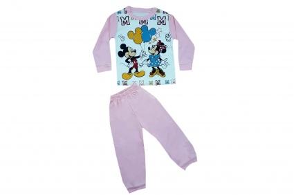 Детска Пижама дълъг ръкав момиче - Mickey and Minnie mouse