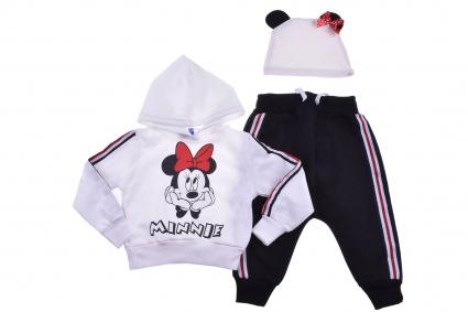 Детски Комплект дълъг ръкав 3 части - Minnie Mouse