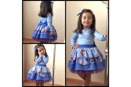Детска Рокля дълъг ръкав - Принцеса София