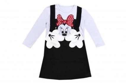Детска Рокля дълъг ръкав вата - Minnie Mouse