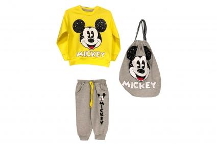Детски Комплект дълъг ръкав момче 3 части - Mickey Mouse