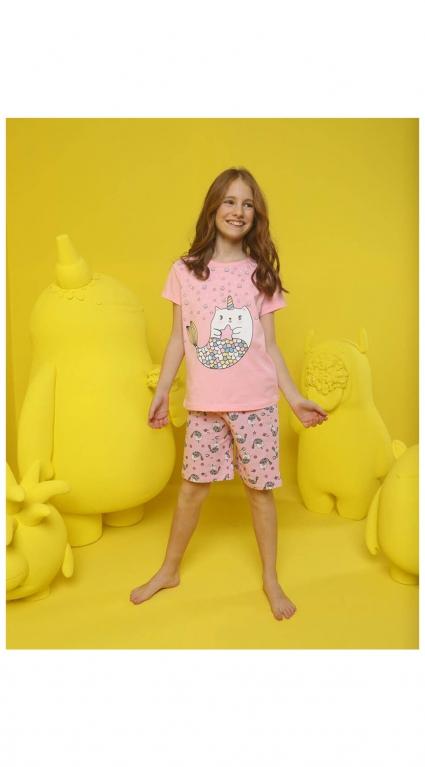 Детска Пижама къс ръкав момиче