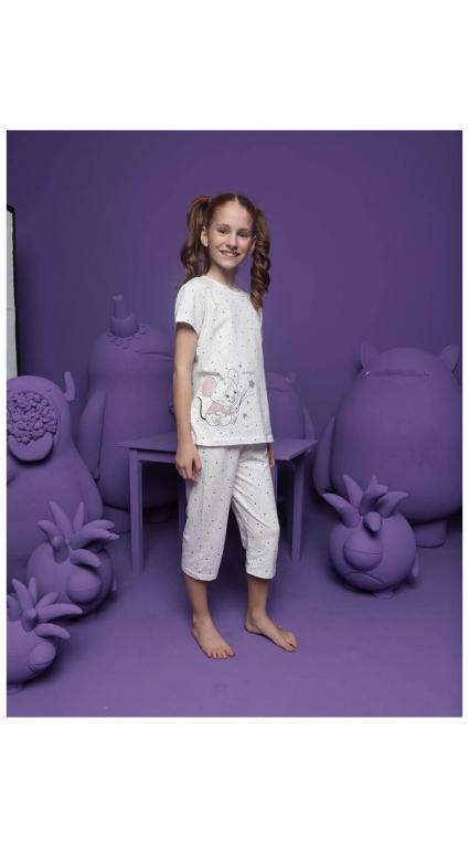Детска Пижама къс ръкав момиче Donella