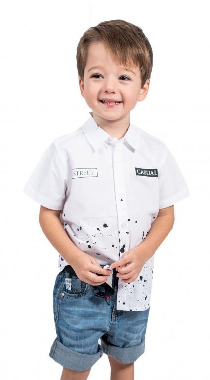 Детска Риза къс ръкав момче