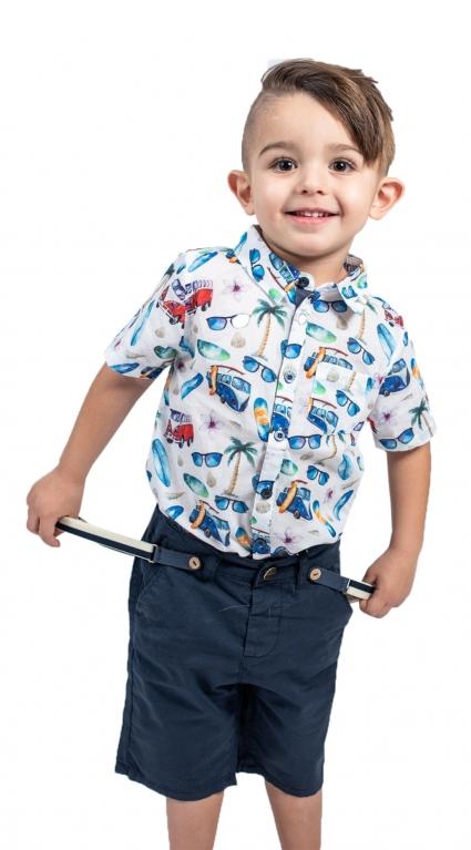Бебешка Риза къс ръкав момче