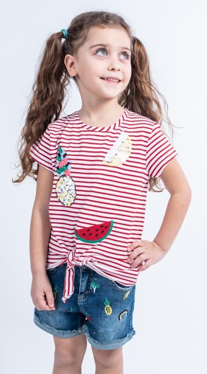 Детски Дънкови панталонки момиче Tropical