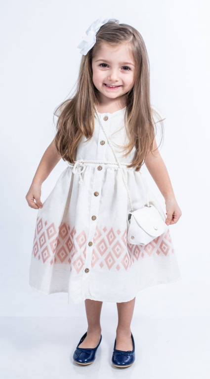 Детска Рокля къс ръкав с чантичка
