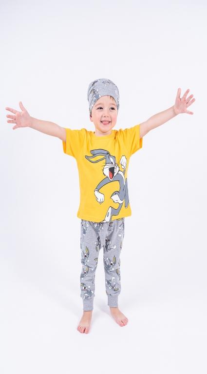 Детски Комплект къс ръкав момче с шапка