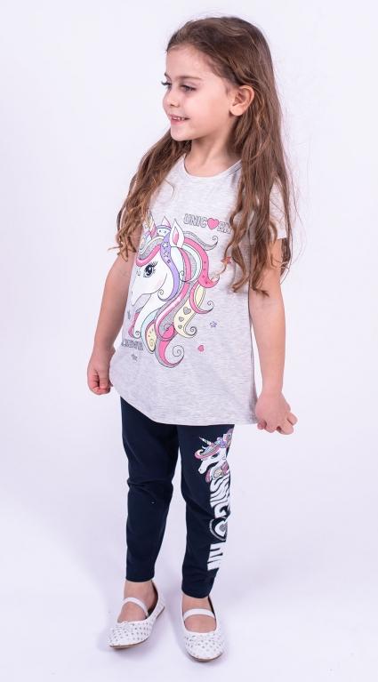 Детски Комплект къс ръкав момиче Pony