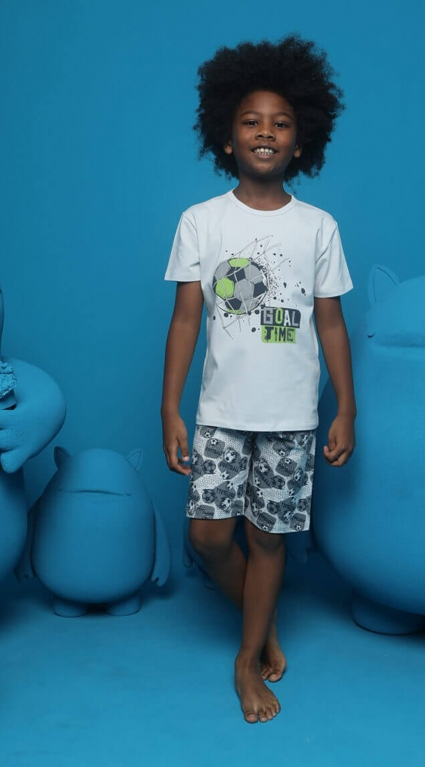 Детска Пижама къс ръкав момче Donella