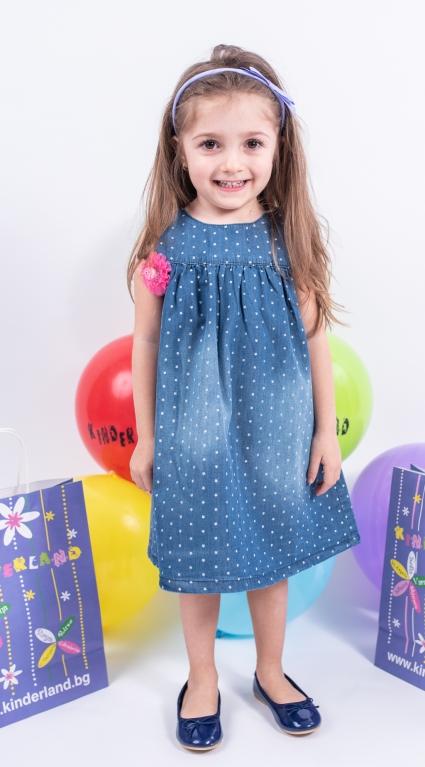 Бебешка Дънкова рокля