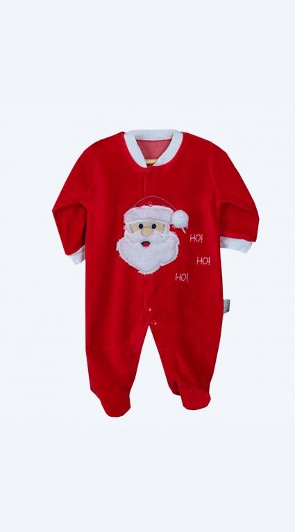 Бебешки Коледен гащеризон дълъг ръкав
