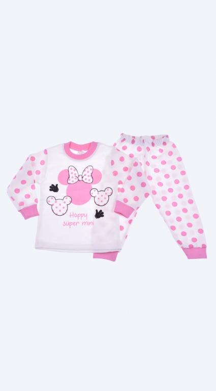Детска Пижама дълъг ръкав момиче - Mickey Mouse