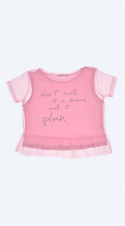 Детска Тениска за момиче с тюл