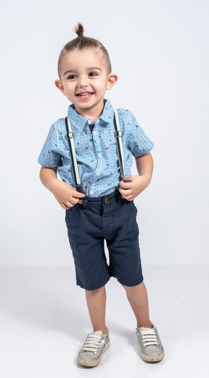 Бебешки Къси панталонки момче с тиранти