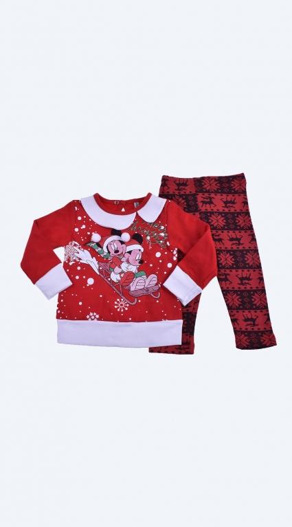 Детски Коледен комплект дълъг ръкав момиче - Mickey Mouse