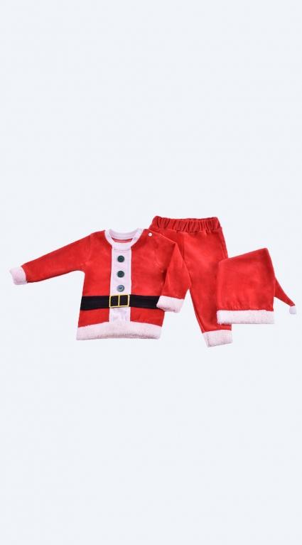 Детски Коледен комплект дълъг ръкав с шапка