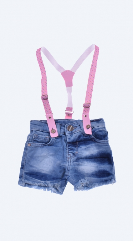 Бебешки Дънкови панталонки момиче с тиранти