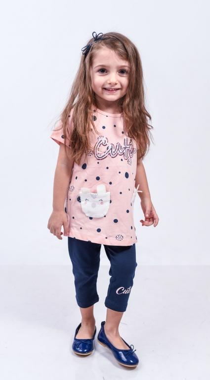 Детски Комплект къс ръкав момиче