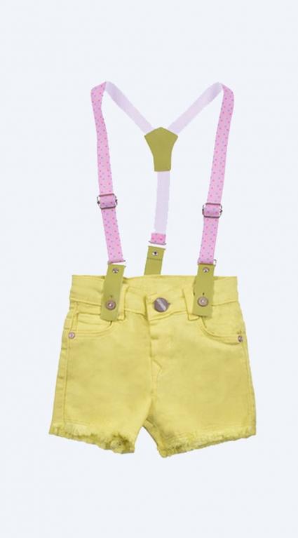 Бебешки Къси панталонки момиче с тиранти