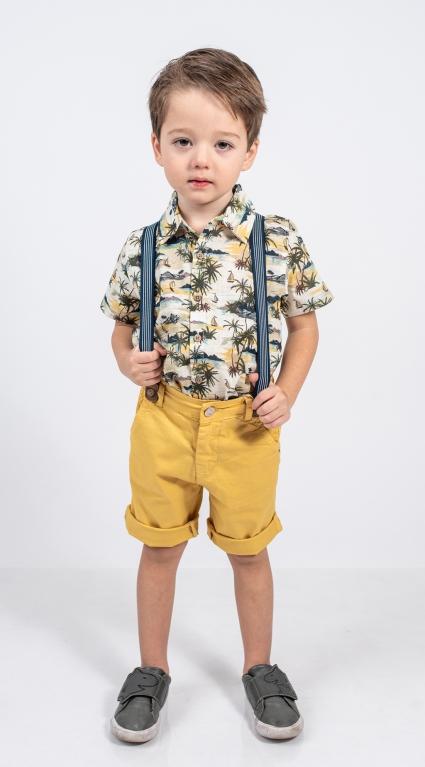 Детска Риза къс ръкав момче - Palms