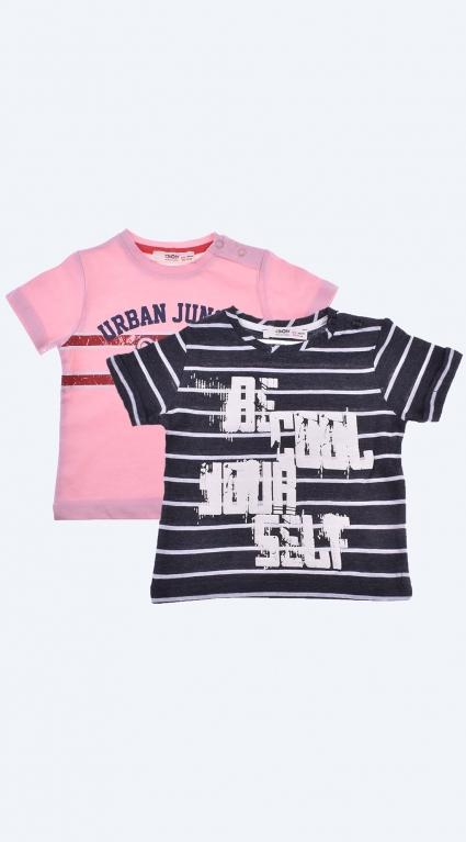Бебешка Тениска за момче Boys 2 броя
