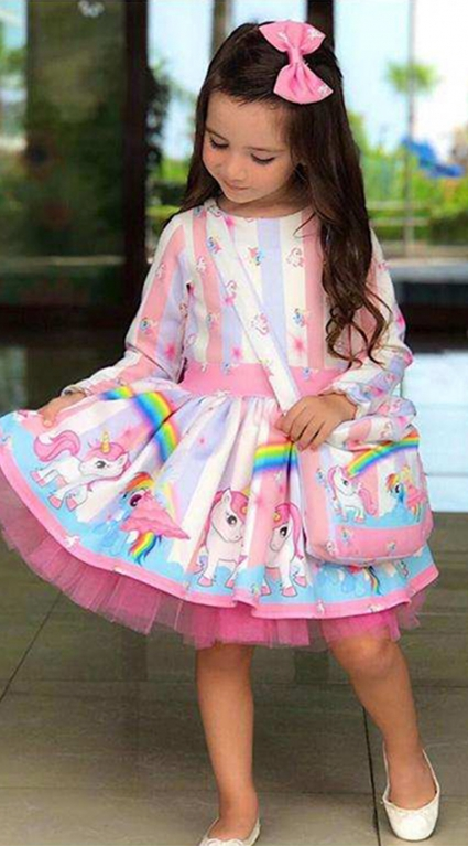 Детска Рокля дълъг ръкав с чантичка My Little Pony