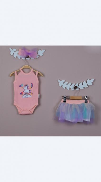 Бебешки Комплект къс ръкав момиче Pony Baby girl