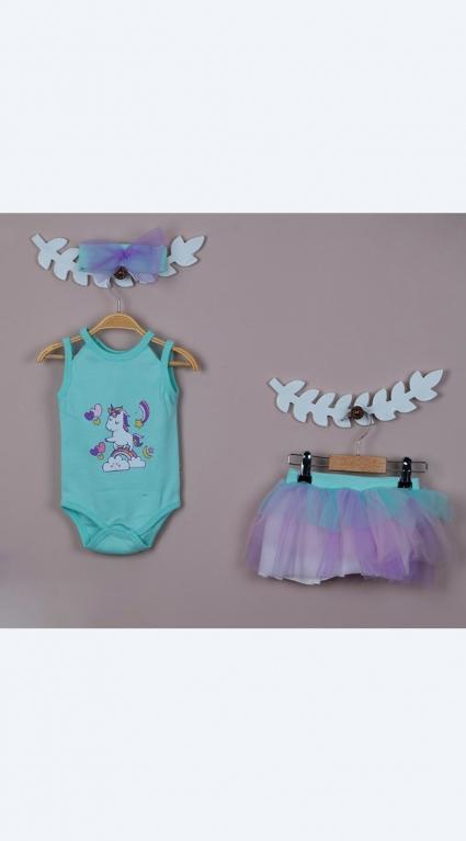 Детски Комплект къс ръкав момиче Pony Baby girl