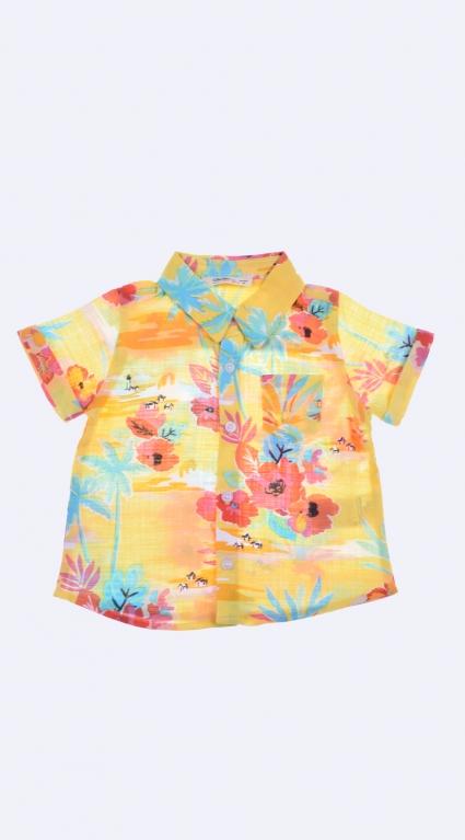 Бебешка Риза къс ръкав момче - Palms