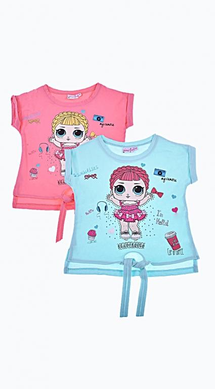 Детска Тениска за момиче Girls 2 броя LOL