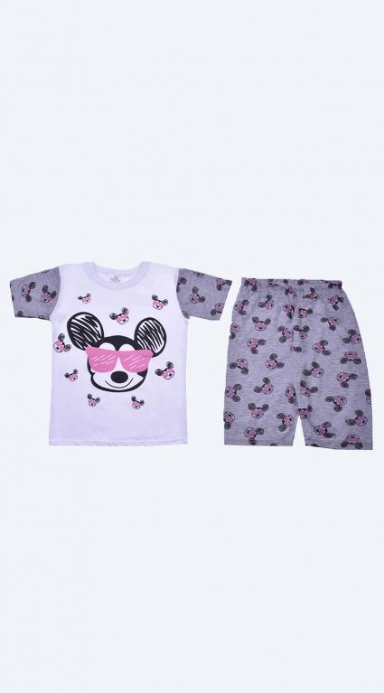 Детска Пижама къс ръкав момиче - Mickey Mouse