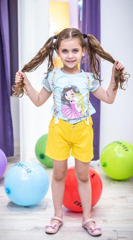 Детски Къси панталонки момиче с тиранти