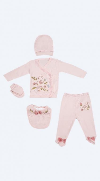 Бебешки Комплект дълъг ръкав момиче 5 части - Baby Girl