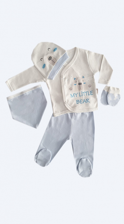 Бебешки Комплект дълъг ръкав момче 5 части - Baby Boy