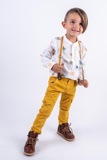 Бебешки Панталон момче с тиранти