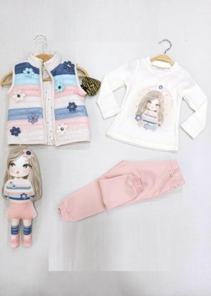Бебешки Комплект момиче дълъг ръкав 4 части