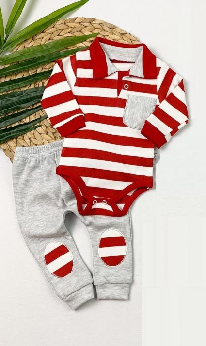 Бебешки Комплект бебе момче дълъг ръкав
