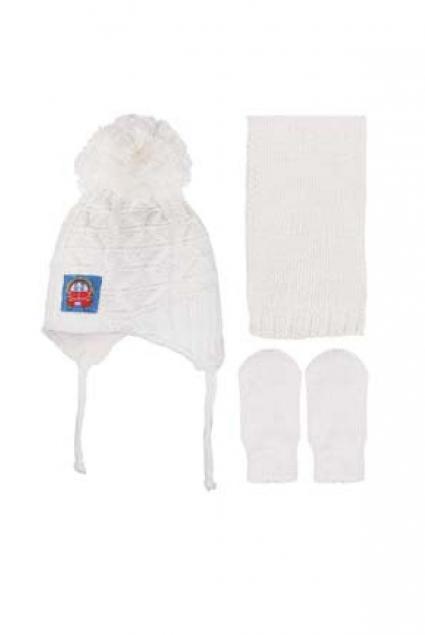 Бебешки Комплект с шапка, шал и ръкавици момче