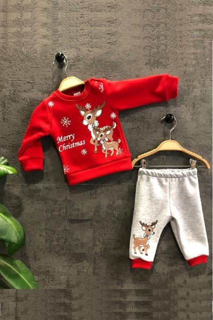 Бебешки Комплект дълъг ръкав Коледа