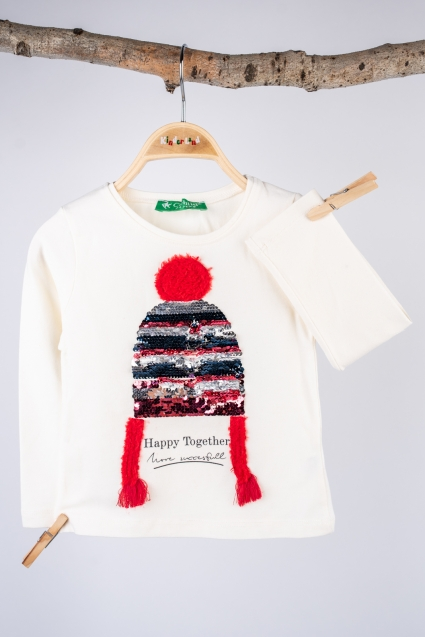 Блуза момиче дълъг ръкав Коледа