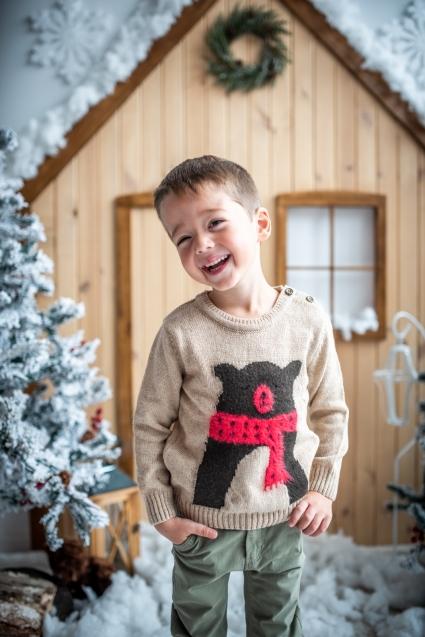 Бебешки Пуловер момче Коледа