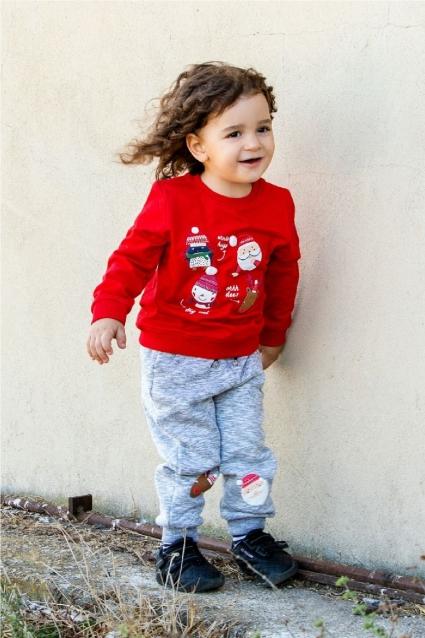 Бебешки Комплект момче дълъг ръкав Коледа
