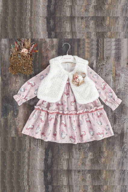 Бебешка Рокля дълъг ръкав с елек
