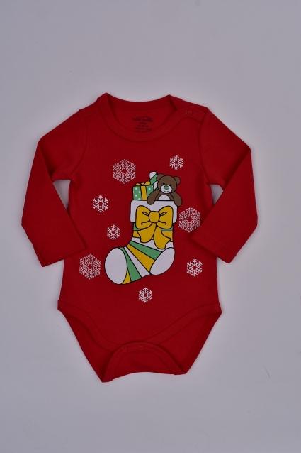 Бебешко Боди дълъг ръкав Коледа