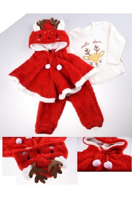 Бебешки Комплект дълъг ръкав момиче Коледа