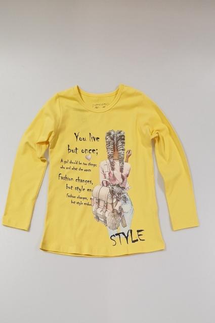 Блуза момиче дълъг ръкав